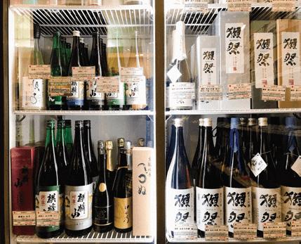 日本酒の取扱い銘柄が豊富